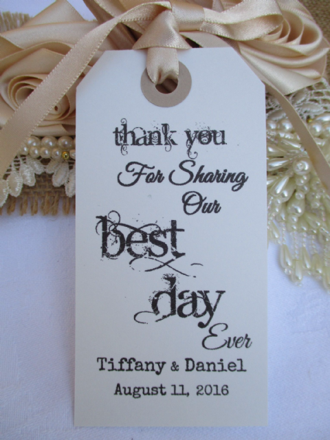 10 Thank You For Sharing Our Best Day Ever Personalized 108 x 54 mm